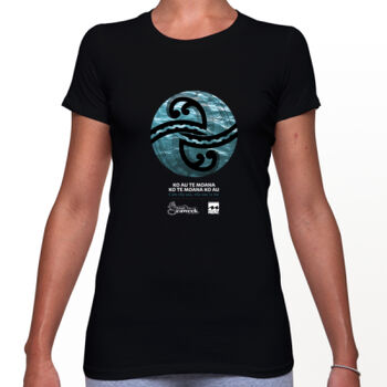 Seaweek 2020 T-Shirt Womens - Black Thumbnail