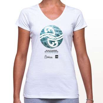 Seaweek 2020 T-Shirt Women's V-Neck - White Thumbnail